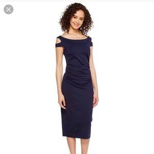 Trina Turk Off the Shoulder Enliven Sheath Dress